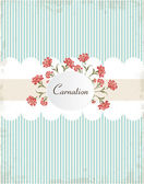 Vintage carnations background