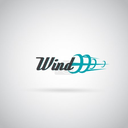 Wind label - vector illustration