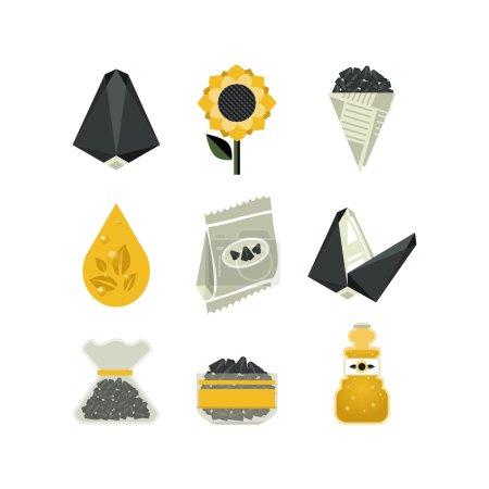 Set of sunflower icons...