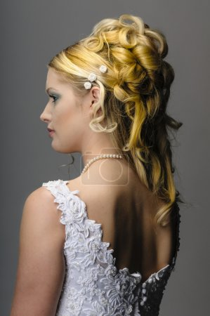 Young bride showing her neck