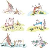 Nativní australský skici