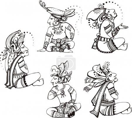 Mayan characters