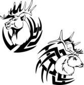 Predátor Jelení hlava tetování