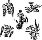 Native indian shoshone tribal drawings Birds