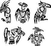 Native indian shoshone tribal drawings Eagles