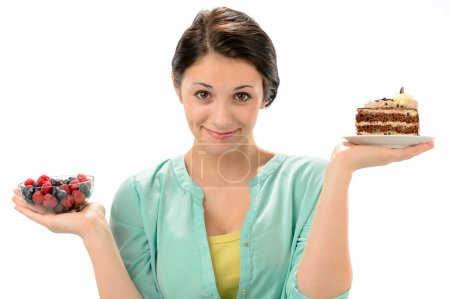 Concept of healthy nutrition with woman