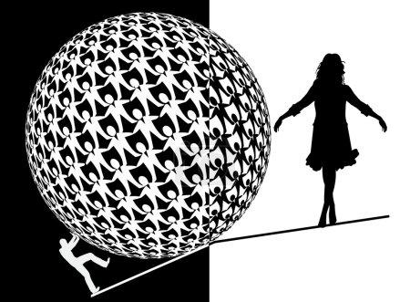 Photo pour Les femmes luttent pour l'égalité des chances, puisque la plupart des cadres dans les grandes entreprises sont encore des hommes - image libre de droit