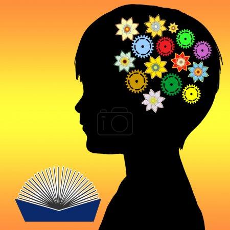 Photo pour Lecture aux enfants dès la petite enfance joue un rôle essentiel dans la promotion de l'imagination, l'intelligence et créativité - image libre de droit
