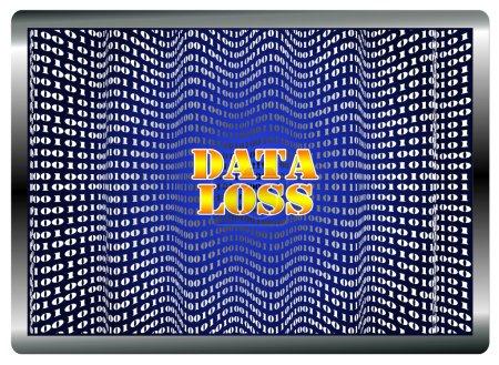 Photo pour Corruption de logiciel, dysfonctionnement matériel, erreur humaine, virus peut conduire à la perte de données - image libre de droit