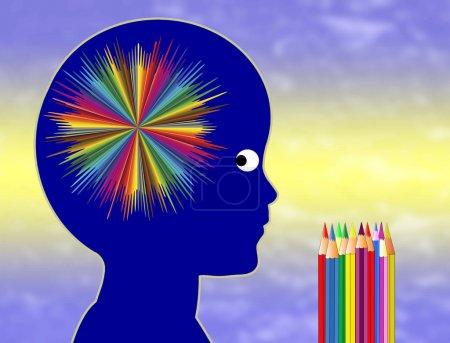 Photo pour Éducation artistique favorise la créativité, l'intelligence et compétences émotionnelles dans la petite enfance - image libre de droit