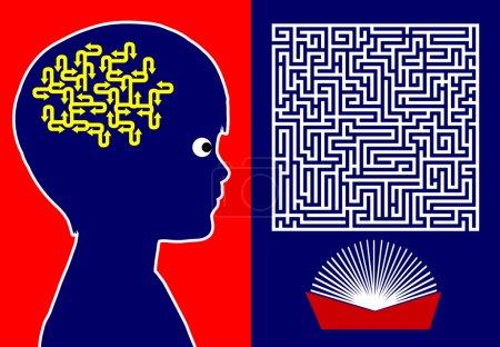Photo pour Livres en éducation de l'enfance jouent un rôle vital dans la promotion de la pensée logique, l'intelligence et les capacités de résolution de problèmes - image libre de droit