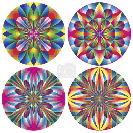 Photo pour Illustrations vectorielles avec des motifs historiques dans des couleurs vives et lumineuses pour tapisserie, mural design et décoration - image libre de droit