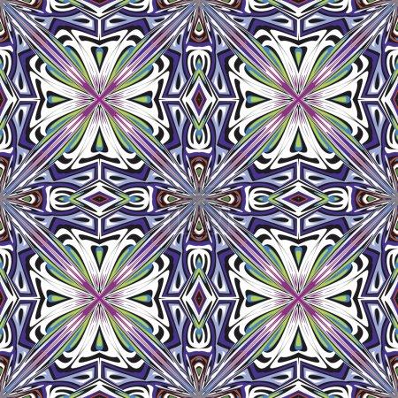Photo pour Modèle vecteur artistique transparente avec des motifs historiques dans des couleurs vives et lumineuses - image libre de droit