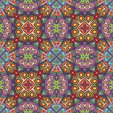 Photo pour Ornements géométriques avec des symboles spirituels dérivés de motifs anciens de vives et brillantes couleurs, homogène et sophistiqué en vectoriel - image libre de droit