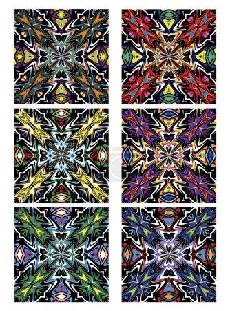 Textures with spiritual symbols in contemporary de...