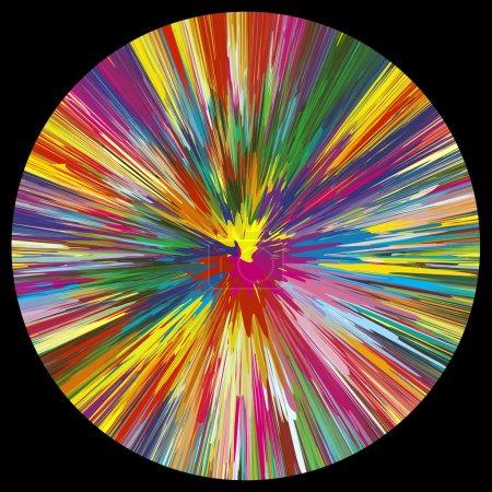 Illustration pour Symbole de créativité, de spontanéité et de puissance dans plus d'une centaine de couleurs vives et lumineuses - image libre de droit