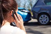 řidič při telefonní hovor