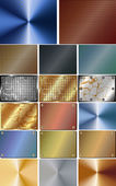 Set of abstract metal background