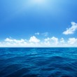 Perfect sky and water of indian ocean...