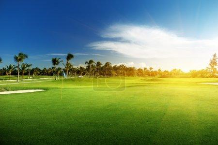 Photo pour Terrain de golf en République dominicaine - image libre de droit