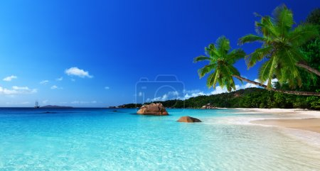 Photo for Anse Lazio beach at Praslin island, Seychelles - Royalty Free Image