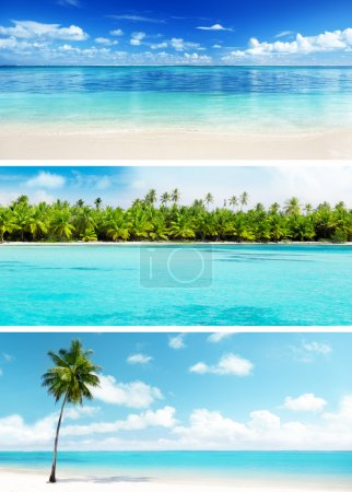 set of Caribbean beaches