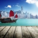 Hong Kong harbour...