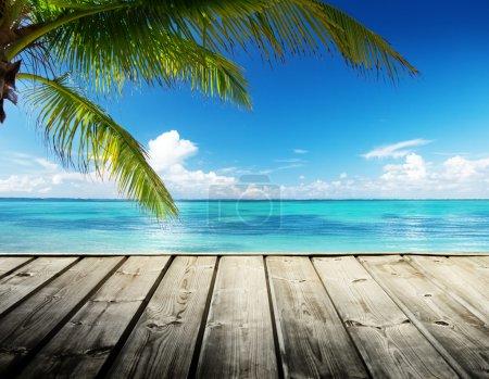 Photo pour Mer des Caraïbes et ciel parfait - image libre de droit