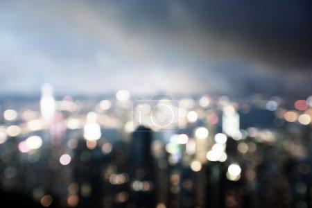 Photo pour Lighhts estompée de victoria peak, hong kong - image libre de droit