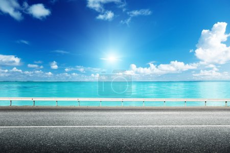 Photo for Asphalt road and sea - Royalty Free Image