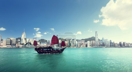 Photo for Hong Kong harbour - Royalty Free Image