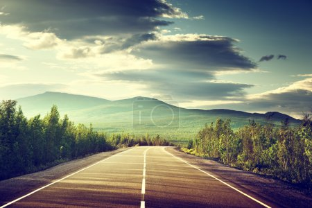Photo for Road in Russian mountains - Royalty Free Image
