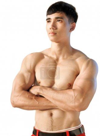 Portrait Muscular Male Torso