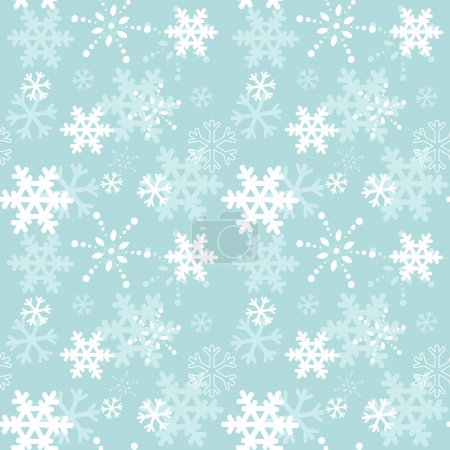 Decorative winter Christmas seamless texture with snowflakes