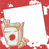 Advertisement invitation card with chinese food