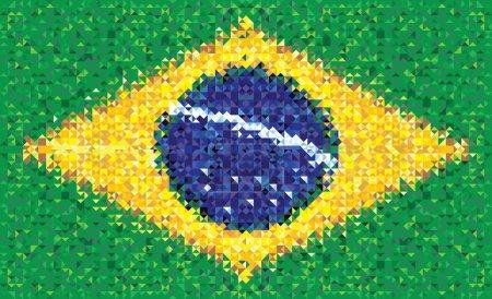 Brazil flag, vector texture