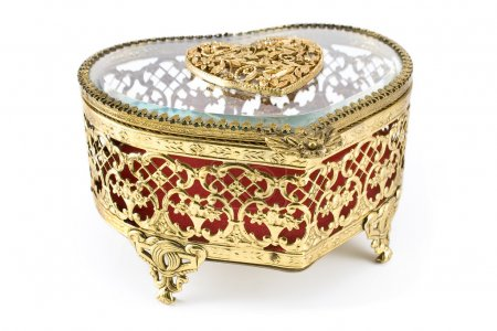 Golden jewelry box