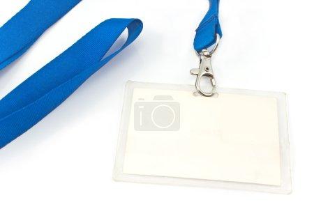 Photo pour Étiquette de carte d'identité vierge isolée sur blanc - image libre de droit