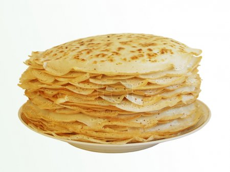 A stack of pancakes - Russian traditional dish....