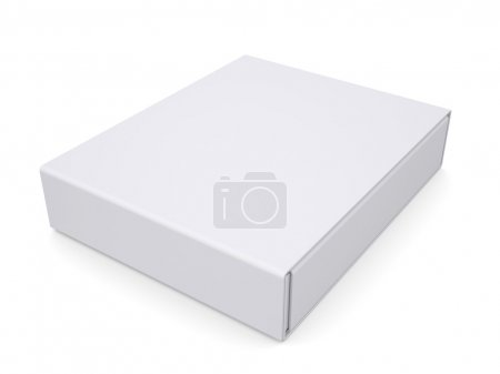 Photo for Closed white box. Isolated render on a white background - Royalty Free Image