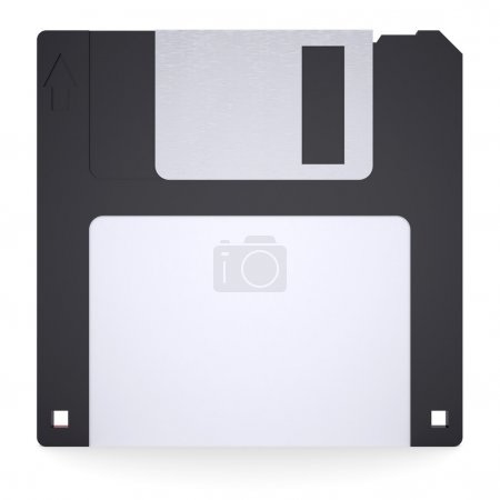 Floppy disk. Isolated render on a white background...