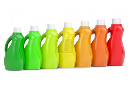 Series plastic bottles of household chemicals