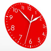 Red clock face