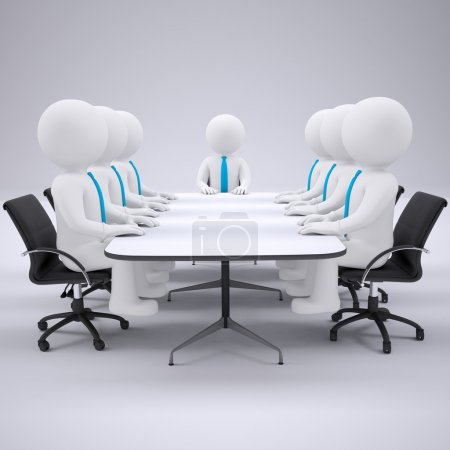 Photo for Businessman sitting at the table. Isolated render on a gray background - Royalty Free Image