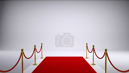 Photo for The red carpet. Gray background. 3d rendering - Royalty Free Image