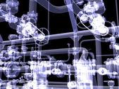 Průmyslové zařízení. x-ray vykreslení