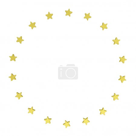 Circle of gold stars