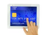 Kreditní karta v pc tablet
