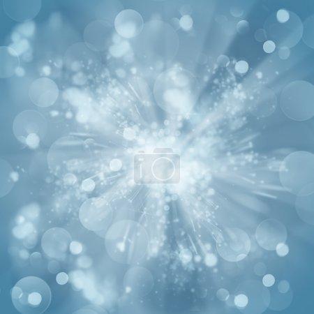 Blue christmas bokeh background