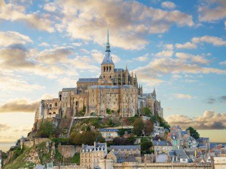 mount of Mont Saint Michel, France
